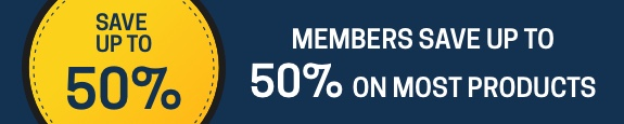 Members save up to 50%